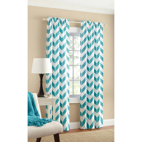 chevron curtains mainstays chevron polyester/cotton curtain with bonus panel available in  multiple colors and TFCQKAO