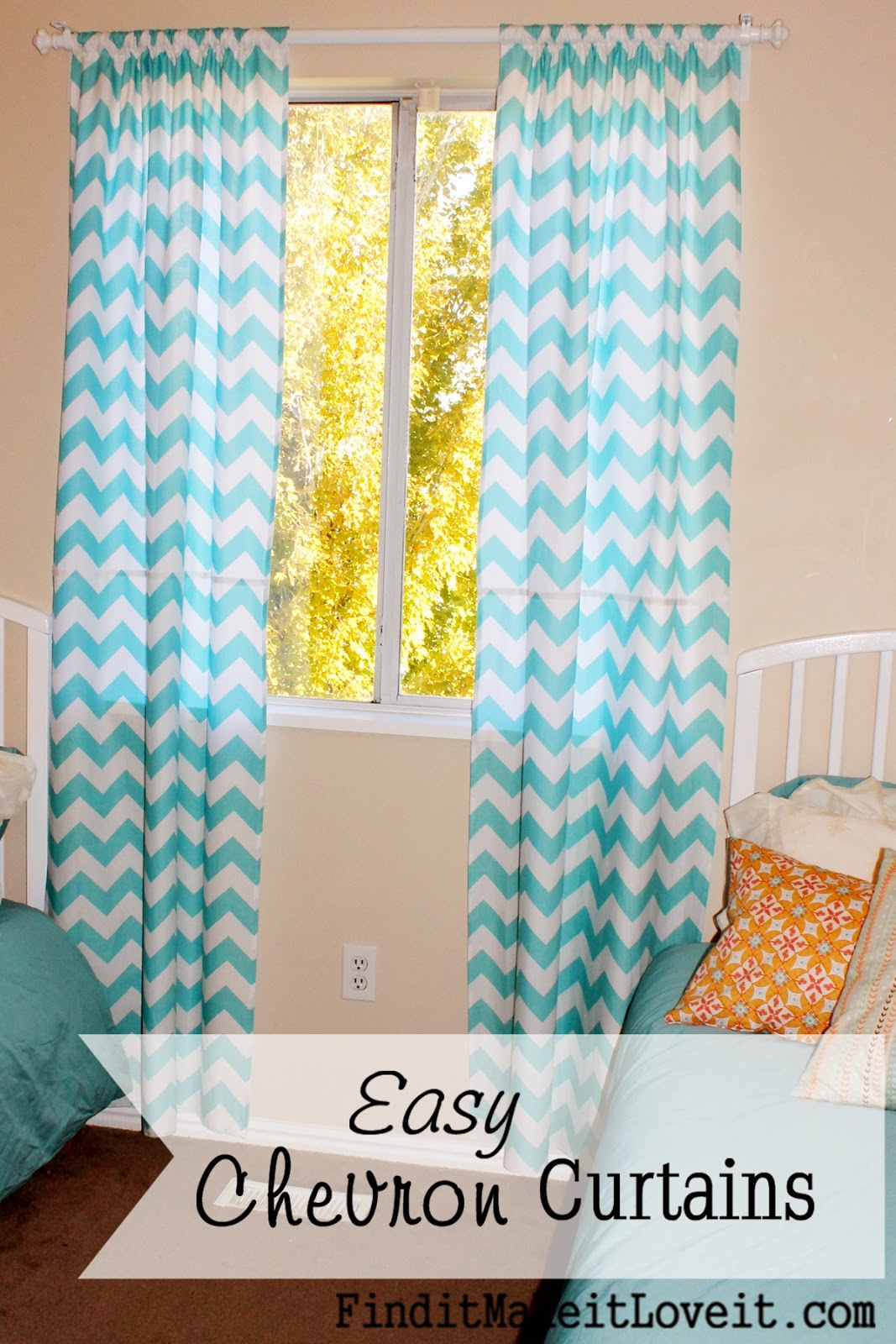 chevron curtains the first step of sewing up some curtains is to measure your window. WDFWLZG