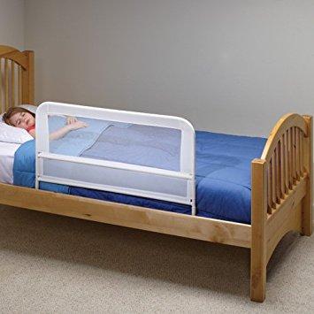 childrens bed kidco childrenu0027s bed rail - white mesh URXTHVD