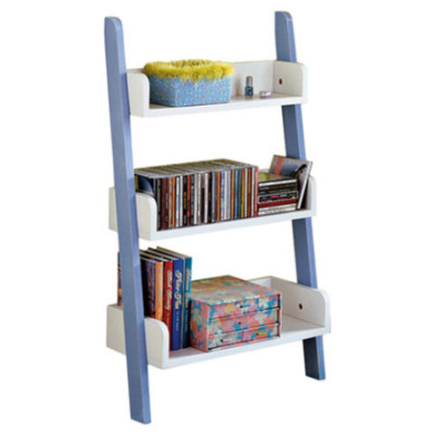 childrens bookcase tms childrenu0027s ladder bookcase blue and white SVHTGTM