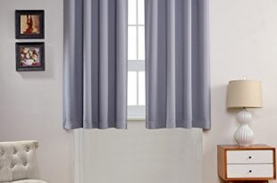 childrens curtains mysky home solid grommet top thermal insulated window blackout curtain for  bedroom, QGDETPM