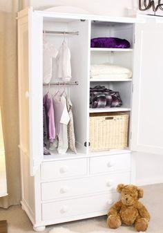 childrens wardrobe nutkin childrens single wardrobe with drawers - ccp13b | baumhaus - by VGHMGAY
