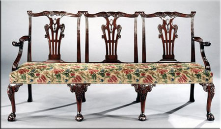 chippendale furniture thomas chippendale sofa LKODLHF