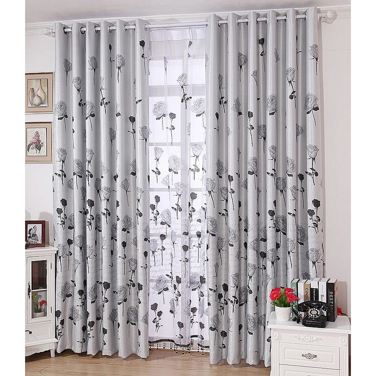 classic rose gray luxury curtains blackout modern curtains JFLOQOK