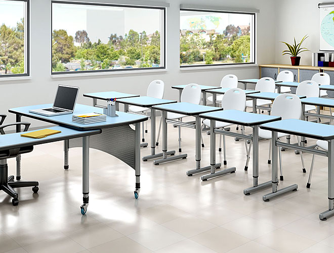 Arrange the classroom furniture and its role in a class