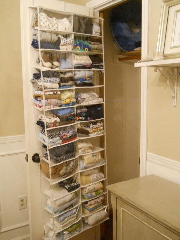 closet storage ideas behind the door storage idea LTZQRCG