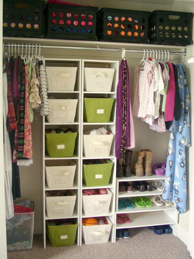 closet storage ideas closet storage idea. i like how simple it is but keeps everything super DDFHCAW