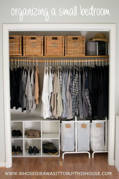 closet storage ideas how we organized our small bedroom FRFQOIT