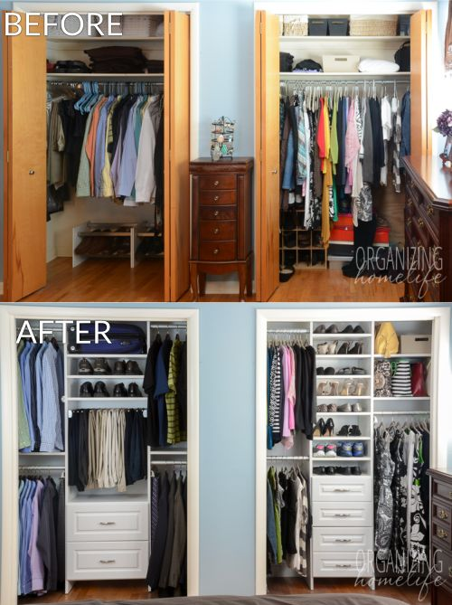 closet storage ideas master bedroom closet makeover before and after KSVKJMZ