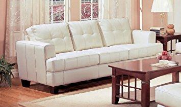coaster samuel collection cream leather sofa BMAPIVG