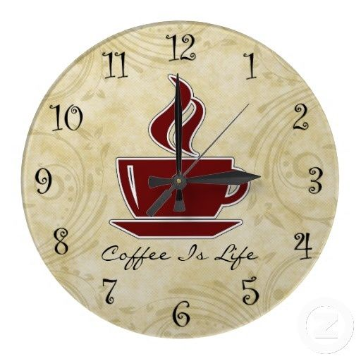 coffee kitchen decor | coffee kitchen wall clocks OFFMRWG