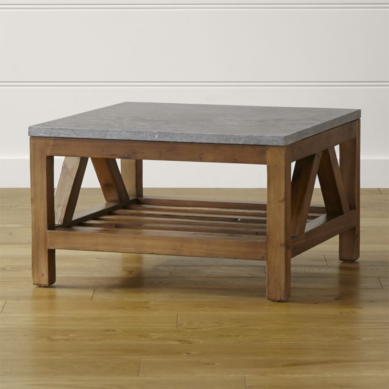 coffee tables bluestone square coffee table | crate and barrel FGRVQYS