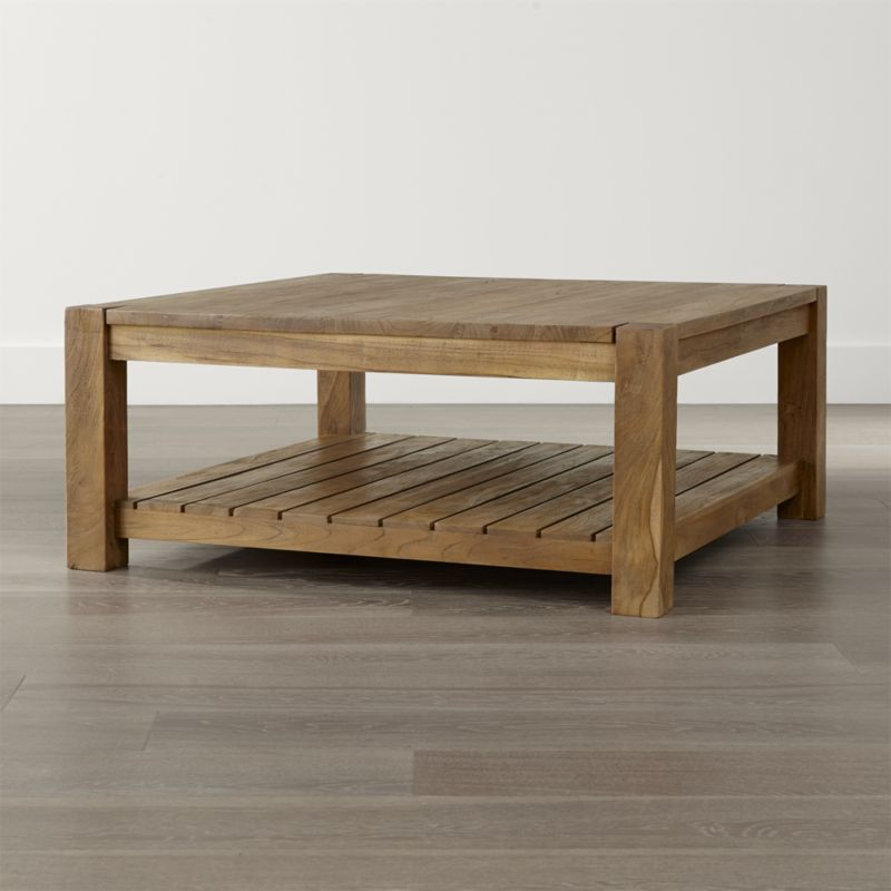 coffee tables edgewood square coffee table | crate and barrel SMUBRPL