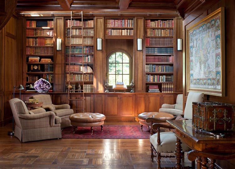 collect this idea 30 classic home library design ideas (6) UEXKGFZ