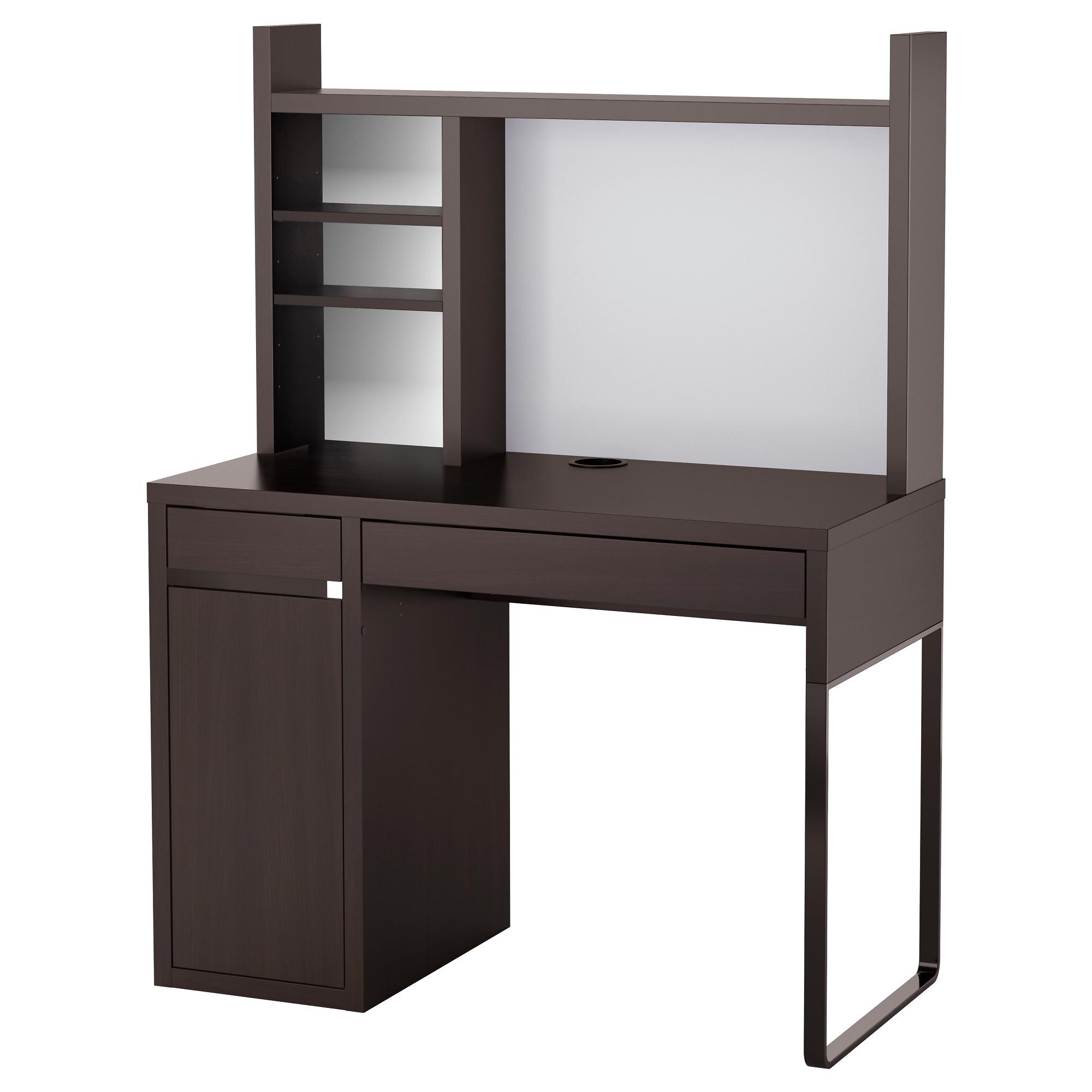 computer desk micke computer work station, black-brown width: 41 3/8  LBYDZND