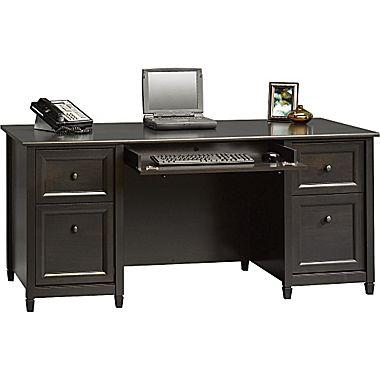 computer desk sauder® edgewater collection executive desk, estate black NOSNLSG