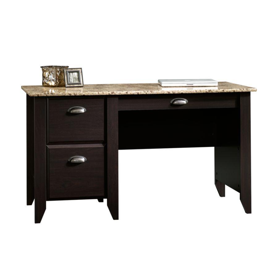 computer desk sauder samber desk granitejamocha wood VOEGPRS