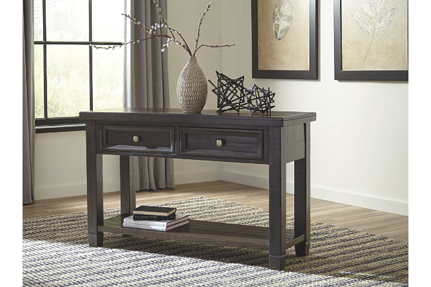 console tables solid dark wood living room sofa table IJKTLQR