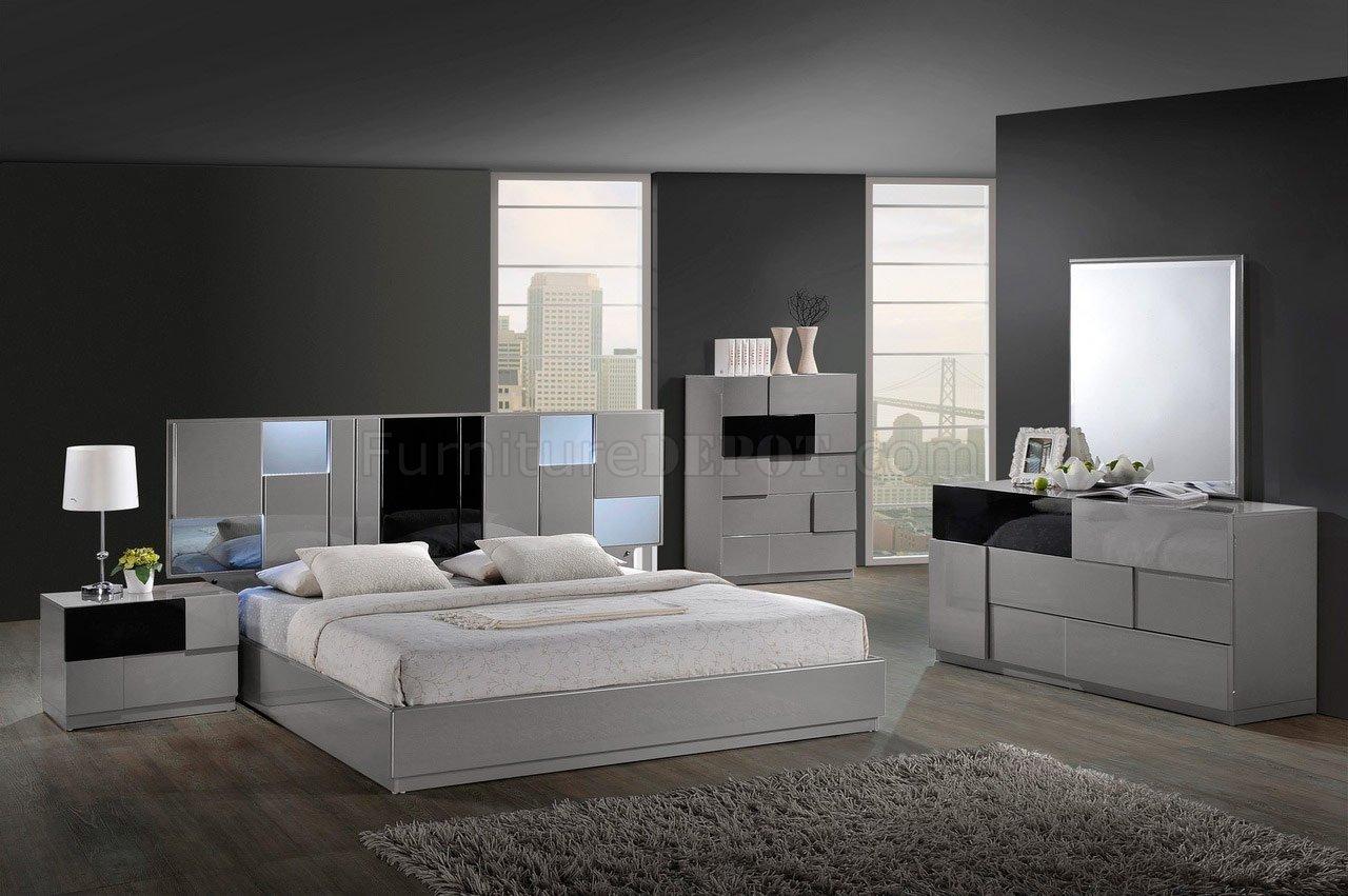 contemporary bedroom sets bianca bedroom set by global w/platform bed u0026 2 nightstands RDJSSXH