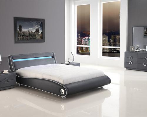 contemporary bedroom sets exclusive leather platform bedroom sets feat. light - bedroom furniture sets SGZIDPW