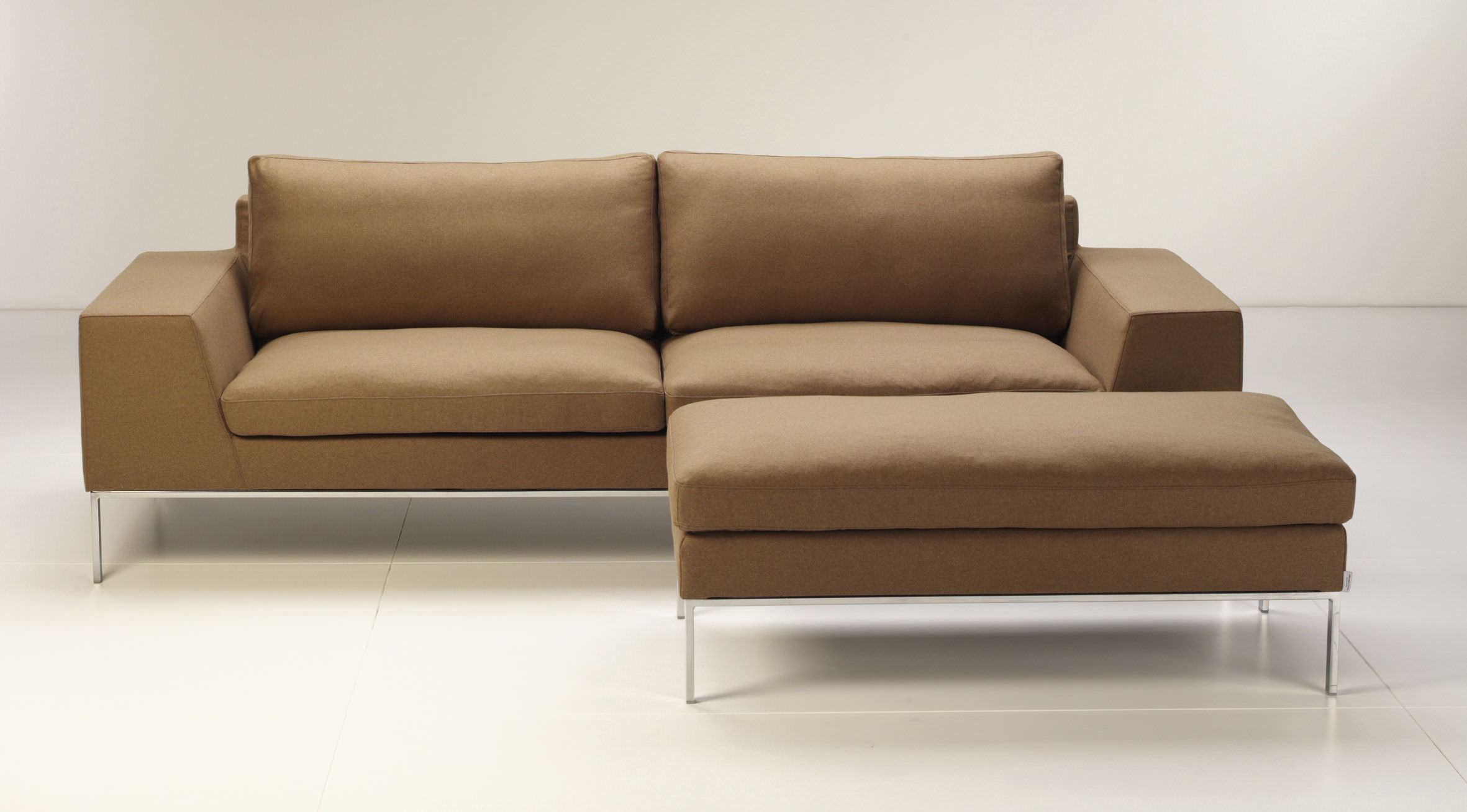 contemporary sofa / leather / 2-seater / white - si-t-114jus PADOGPI