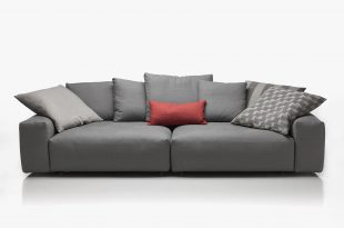 contemporary sofa / leather / fabric / 3-seater - baret JFOMZXM