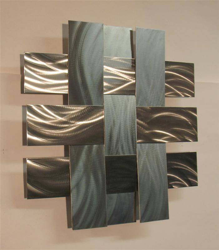 contemporary wall art contemporary metal wall art sculpture stainless 14s, atlanta georgia KVTDOTK