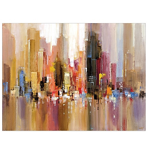 contemporary wall art image of city spree canvas wall art SYQBODY