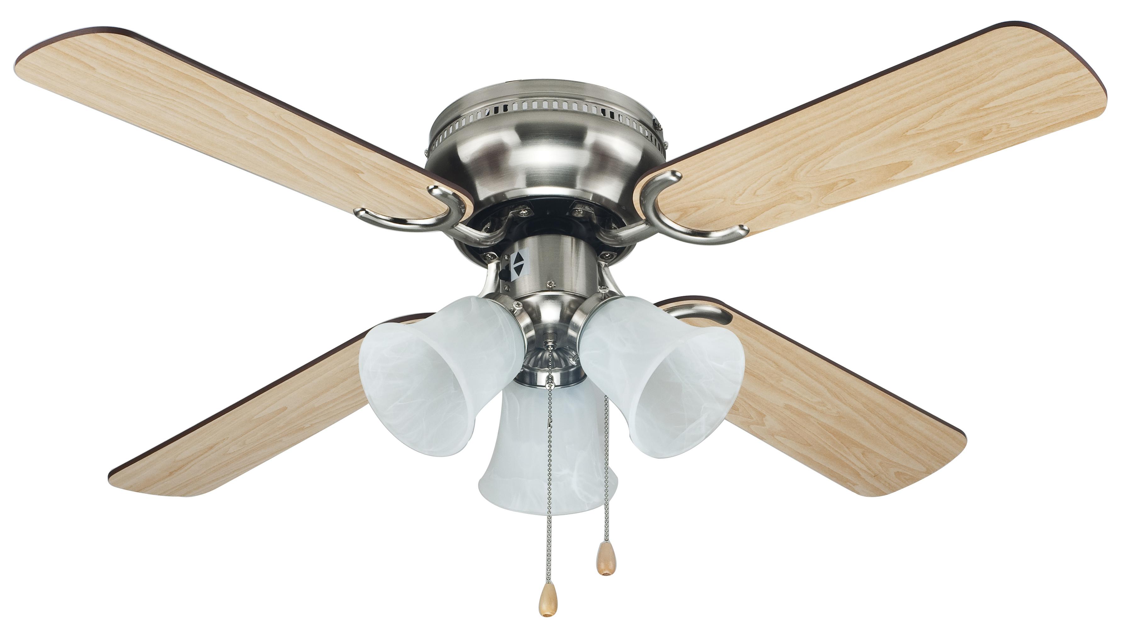 cool~breeze 42in brushed nickel ceiling fan - appliances - fans - ceiling WQMCBBV