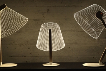 cool lamps the new bulbing lamp collection uses lampshades that are really just 2d CDYWCPP