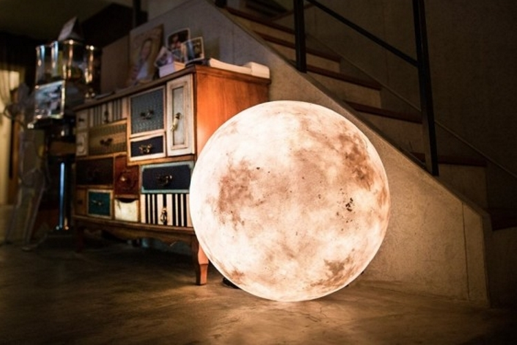 cool lamps your house will seem magical with these moon-like luna lamps inside it KWCJVIU