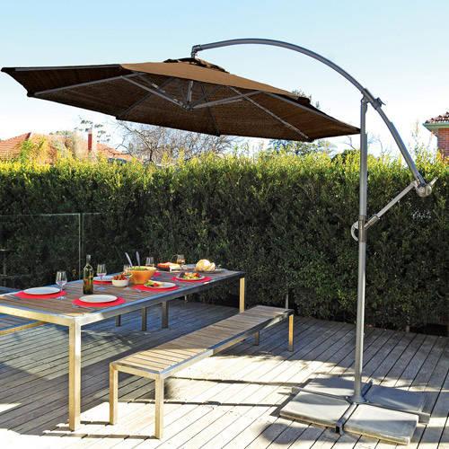 coolaroo 10 u0027 round aluminum cantilever umbrella, multiple colors YCQBYFA