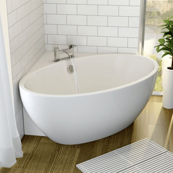 corner baths affine fontaine corner freestanding bath 1270mm x 1270mm with built-in waste CPKXGHM