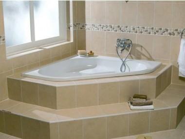 corner baths piazza white built-in corner bath - 1350x 1350mm QNYHKXG