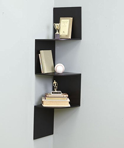 corner shelve amazon.com: black wall corner shelf unit: home u0026 kitchen DIURHWR