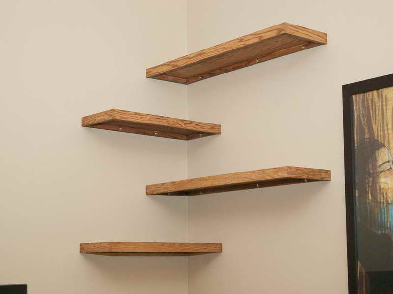 corner shelves how to make floating shelves ILGYIYP