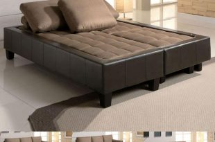 couch bed fulton tan microfiber convertible sofa bed couch sleeper 2 ottoman  sectional set ZGWHNSR