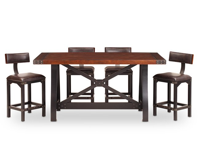 counter height dining table foundry 5 pc. counter height barstool group NNOTPXC