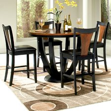 counter height dining table mayer 5 piece counter height dining set JTJBRHK