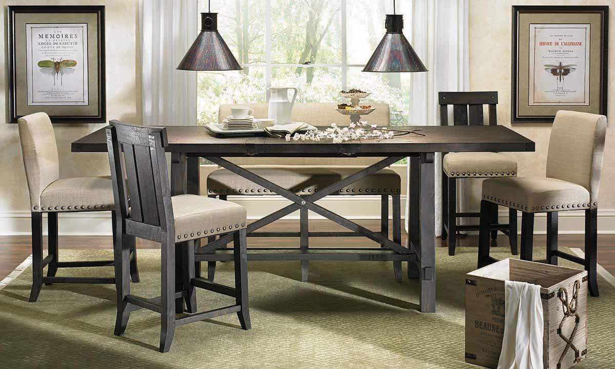counter height dining table picture of yosemite counter height dining set CMPJTNY