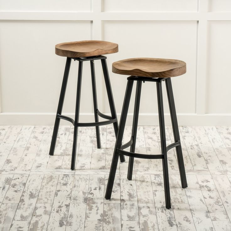 counter height stools albia swivel barstool (set of 2) by christopher knight home (brown) ( AUHWOFH