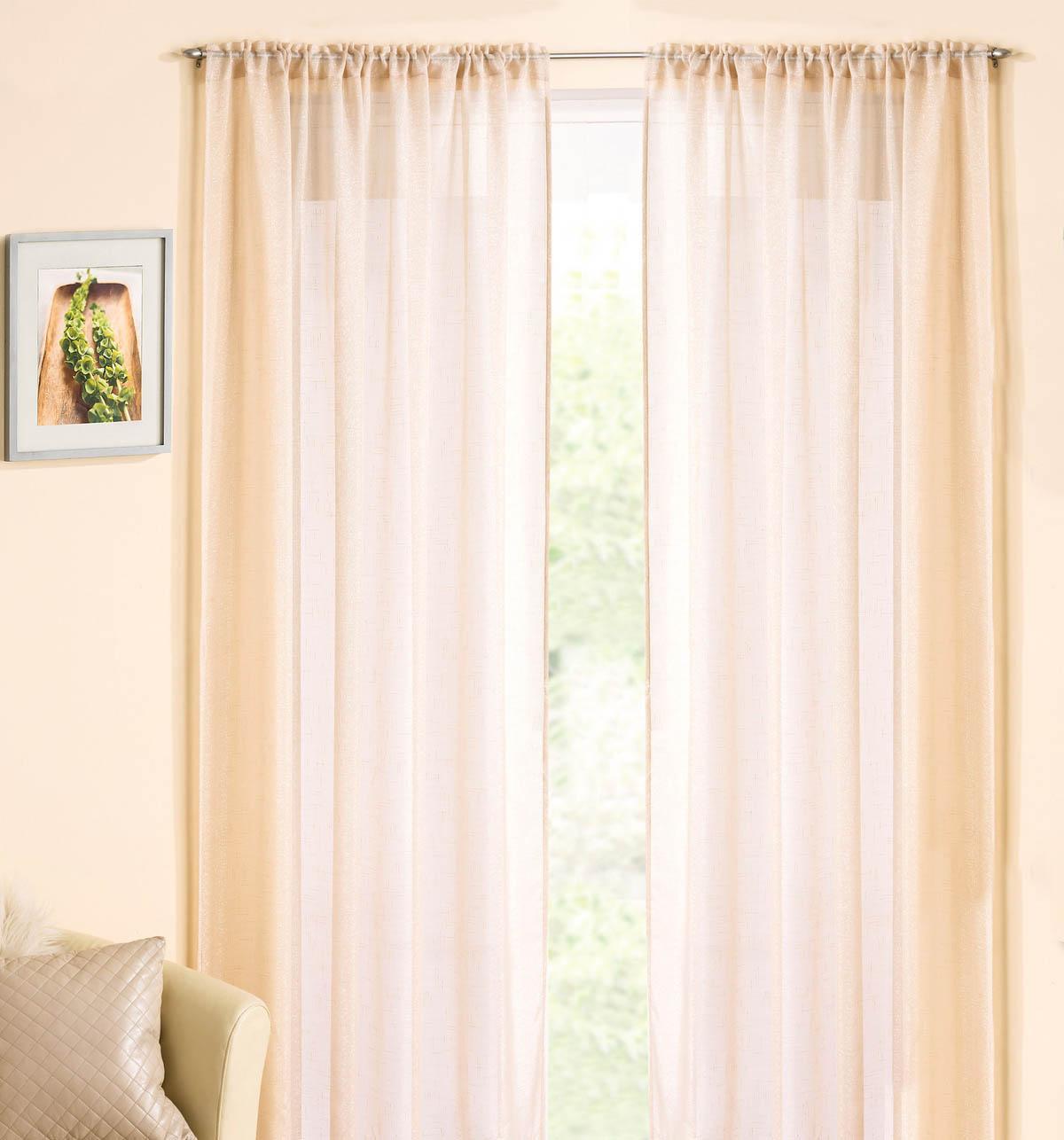 cream curtains casablanca rod pocket voile panel ZUWQYJI