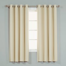 cream curtains coolidge basic solid blackout thermal grommet curtain panels (set of 2) GGHRQLM