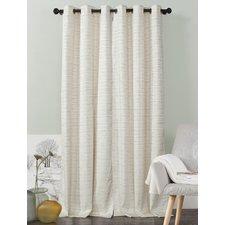 cream curtains jaylah solid blackout grommet curtain panels (set of 2) QPHJRPM