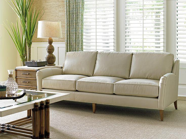 cream leather sofa coconut grove leather sofa in cream #tommybahamahome #tropical  #leatherfurniture AGVYKZP