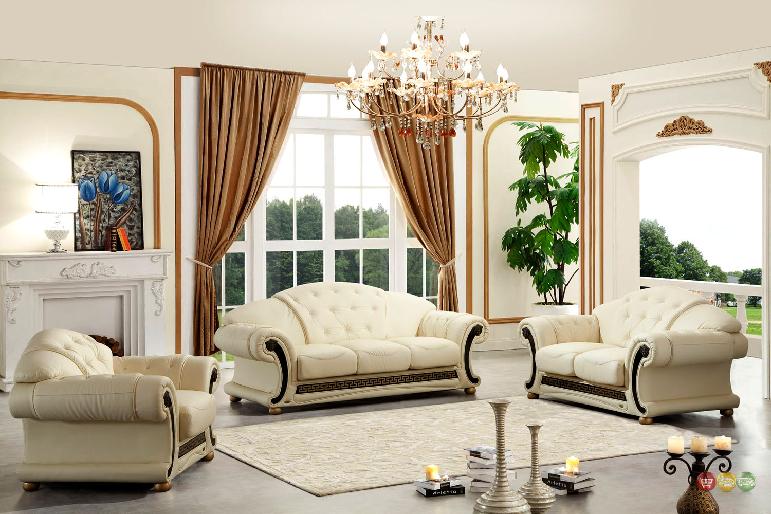 Cream leather sofa- an ultimate choice for a room