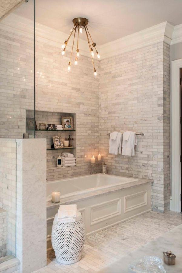 cream white ceramic tile bathroom with soaker tub GVLFJVA