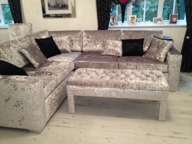 crushed velvet sofa in living room - google search NSJDAQX