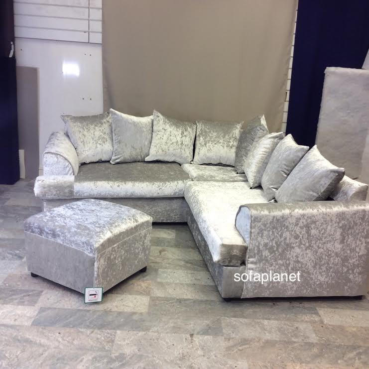 crushed velvet sofa JZPDEXH