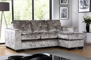 crushed velvet sofa rio silver crushed velvet corner sofa l shape POSFMJG